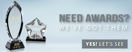 Click to view our new private label line of awesome crystal and other awards!