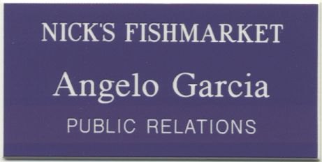 1½ x 3 Engraved 3-Line Name Badge